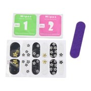 5 Sets Flower Pattern Glitter Adhesive Full Art Stickers Nails Tips