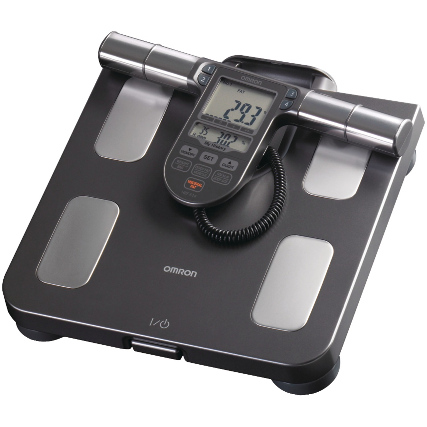 Omron HBF-514C Full-Body Sensor Body Composition Monitor & Scale With 7 Fitness Indicators (90-day Memory) & BP654 7 Series Bluetooth Wrist Blood Pressure Monitor