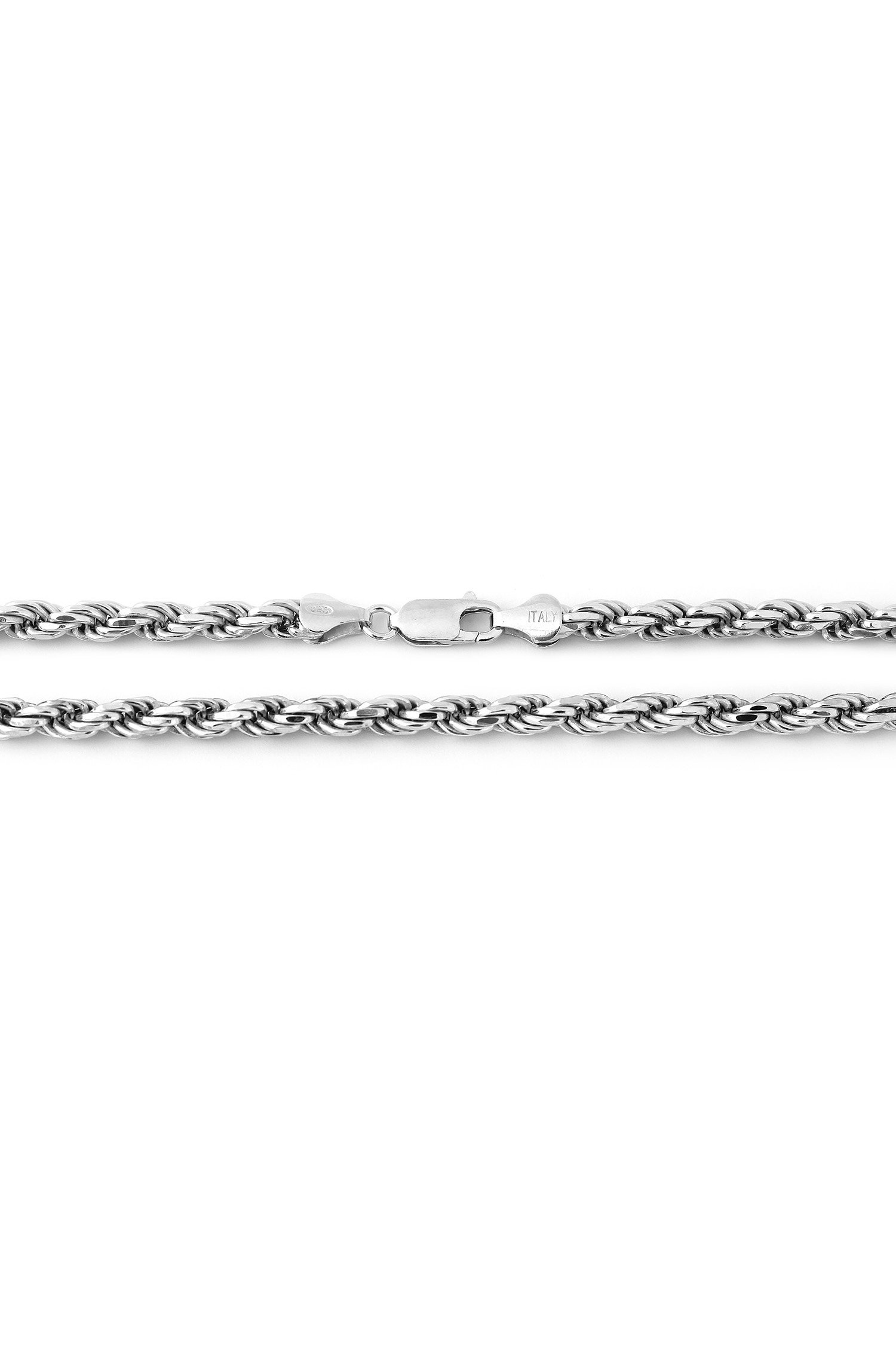 """STERLING SILVER ITALY DC ROPE CHAIN NECKLACE 22/"""" 3mm"""