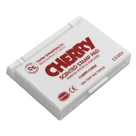 Center Enterprises CE-01BN 6 Each Stamp Pad Scented Cherry, Red