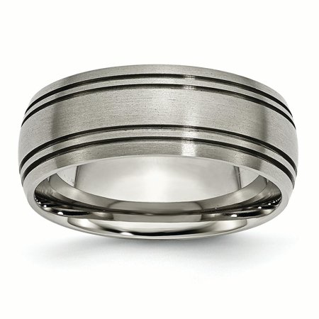 Titanium Grooved 8mm Wedding Ring Band Size 11.50 Fashion Jewelry Gifts For Women For Her - image 10 of 10