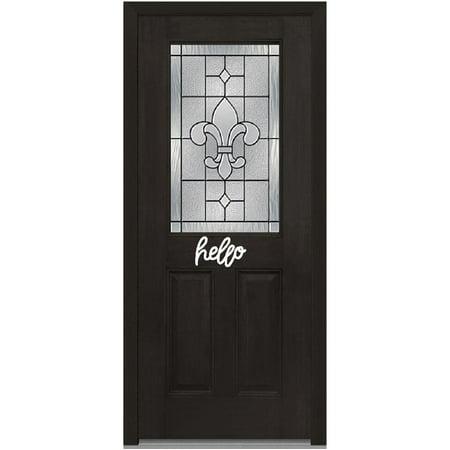 Epic Designs Hello front door sign sticker decoration design (White) ()