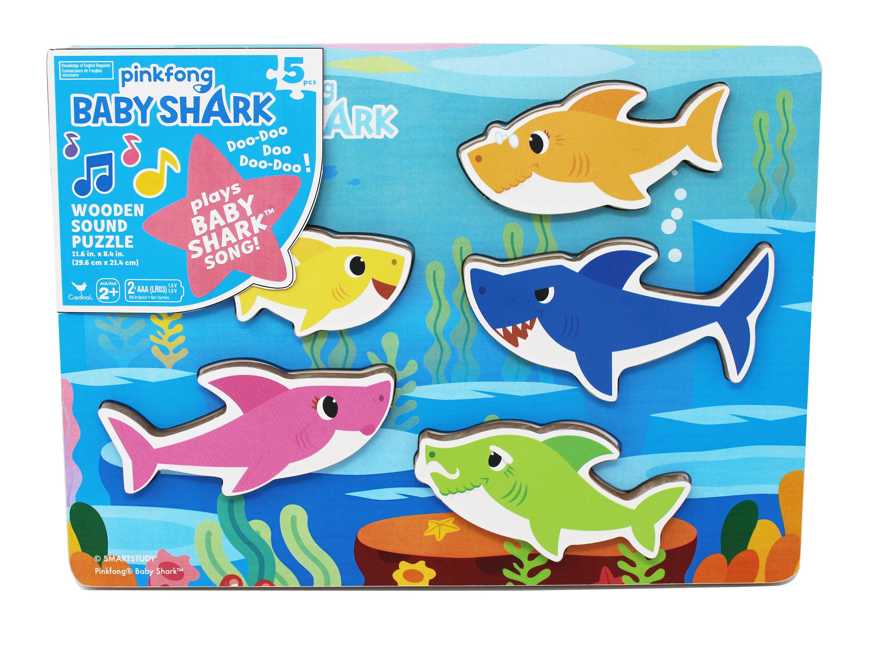 Pinkfong Baby Shark Chunky Wood Sound Puzzle Plays Baby Shark Song by Spin Master Ltd