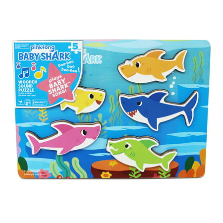 Pinkfong Baby Shark Chunky Wood Sound Puzzle - Plays Baby Shark Song (Atlanta Braves Puzzle)