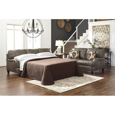 Ashley kannerdy queen leather sofa bed Pull out sofa bed ashley furniture