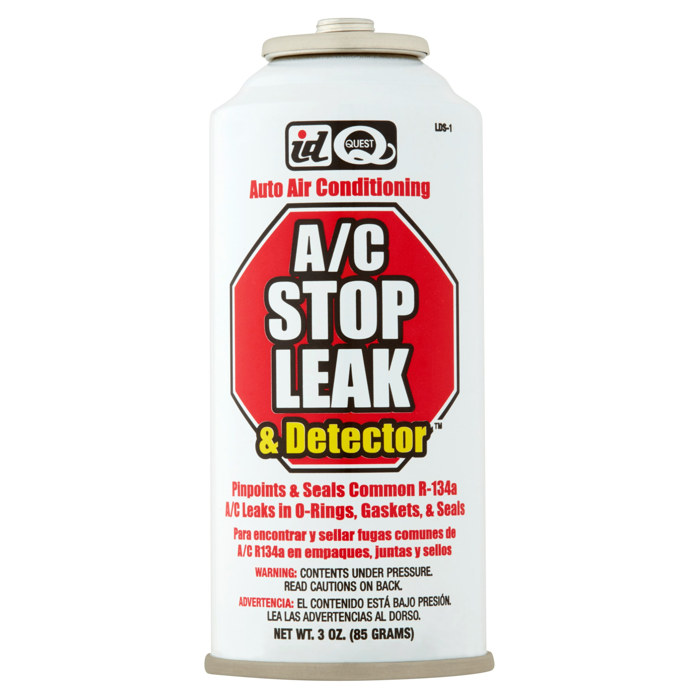ID Quest A/C Stop Leak & Detector Auto Air Conditioning, 3 oz