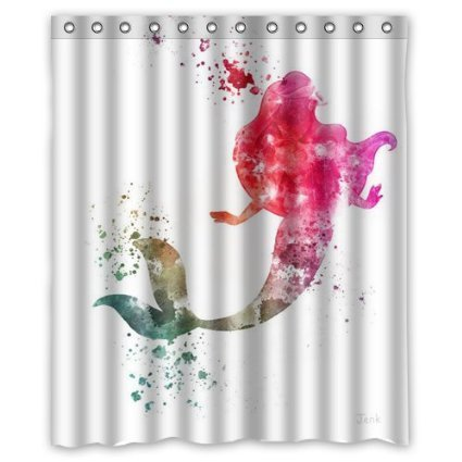 DEYOU Ariel The Little Mermaid Shower Curtain Polyester Fabric Bathroom Shower Curtain Size 60x72 inches
