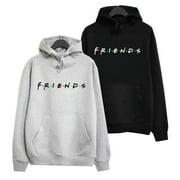 AkoaDa Friends Tv Show Hooded Hoodies Pocket Pullover Hoodie Tops Casual Letter Printed Friends Long Sleeve Hoody Sweatshirts