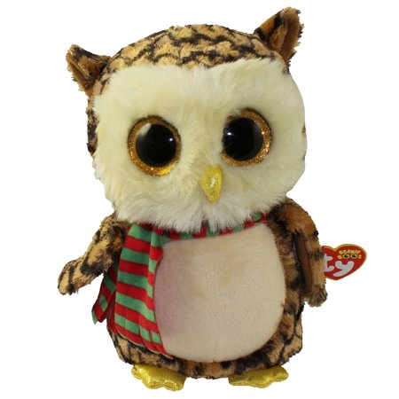 TY Beanie Boos - WISE the Owl (Glitter Eyes) (Medium Size - 9 inch)](Owl Media)