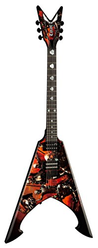 Dean Guitars US131239 Solid-Body Electric Guitar, Custom Khaos Graphic by