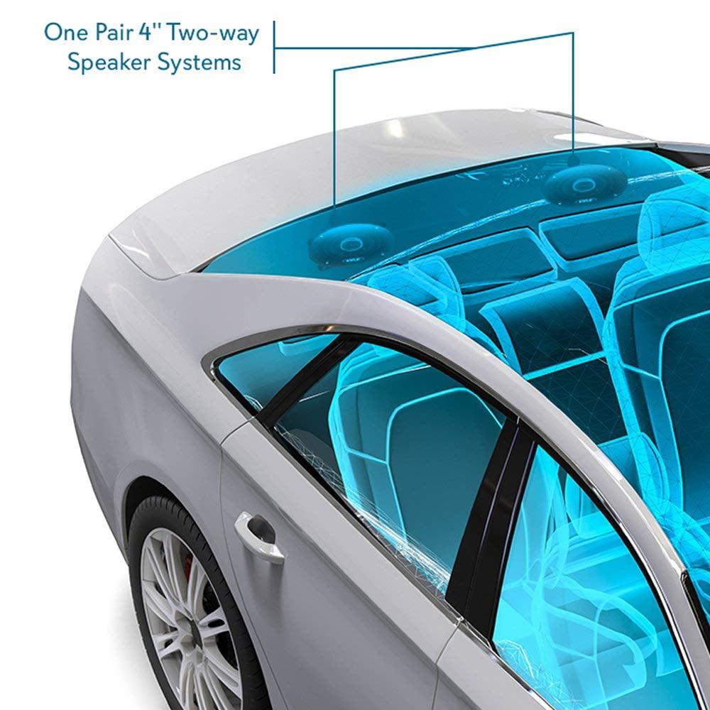 Pair New Pyle PL42BL 4/'/' 180 Watt Two-Way Speakers Car Audio