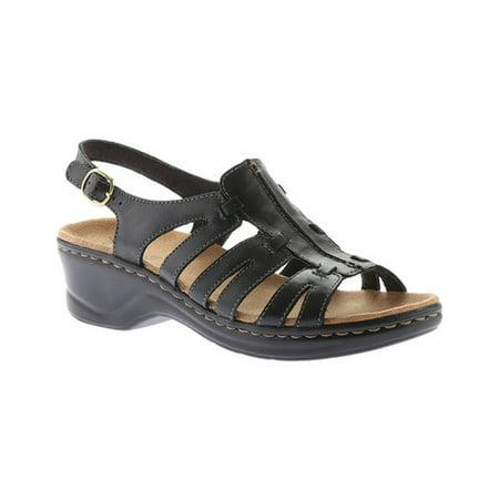 5cdcfa49208 Clarks - Clarks LEXI MARIGOLD Q Womens Black Leather Open Toe Gladiator  Sandals - Walmart.com