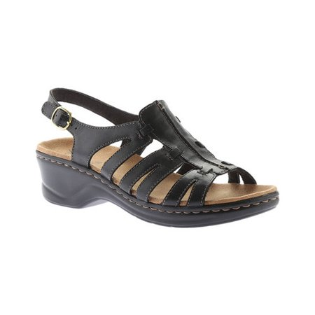 Women's Lexi Marigold Sandal Brown Leather Wedge Sandal