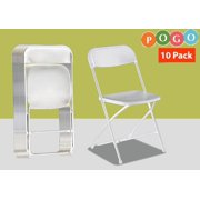 Pogo Poly Plastic Folding Chairs, 10 Pack by Folding Chairs