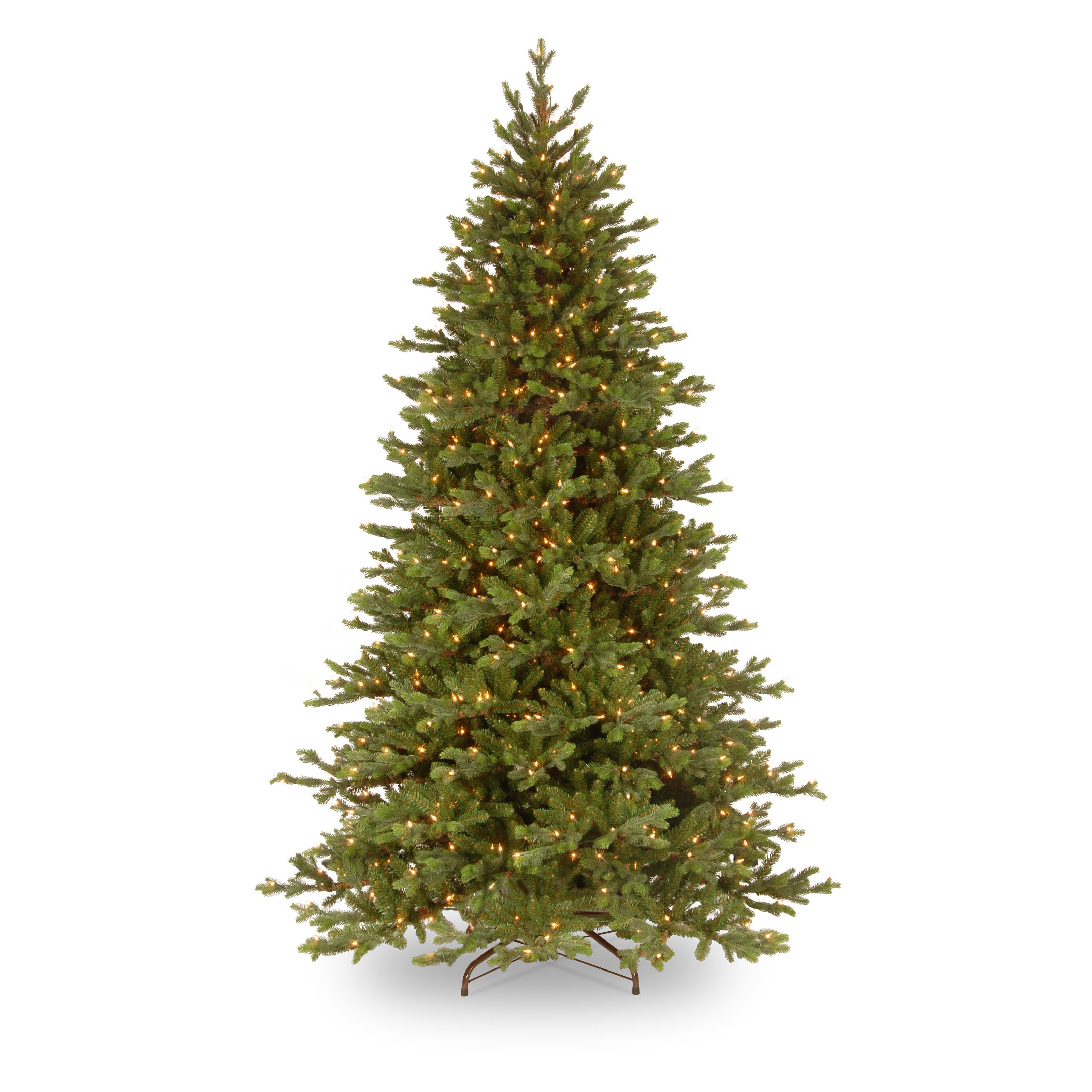 National Tree Pre-Lit 7.5' Feel-Real Yukon Fir Hinged Artificial Christmas Tree with 750 Clear Lights