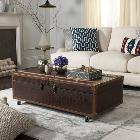 Coffee Table Wine Rack.Safavieh Zoe Coffee Table Storage Trunk With Wine Rack