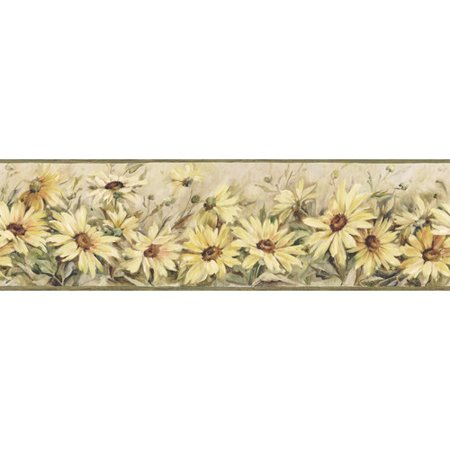 - Brewster Home Fashions The Cottage Regal Sunflowers 15' x 6'' Wallpaper Border