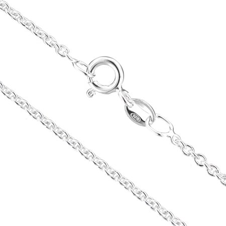 925 Sterling Silver 1.3mm Anchor Italian Chain Necklace With Free Anti-Tarnish Storage Capsule
