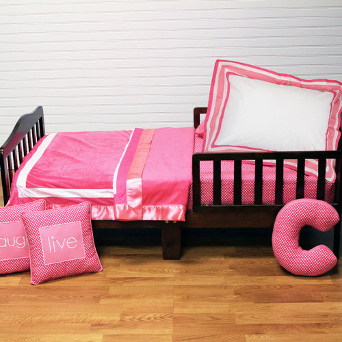 One Grace Place Simplicity Hot Pink 4 Piece Toddler Set