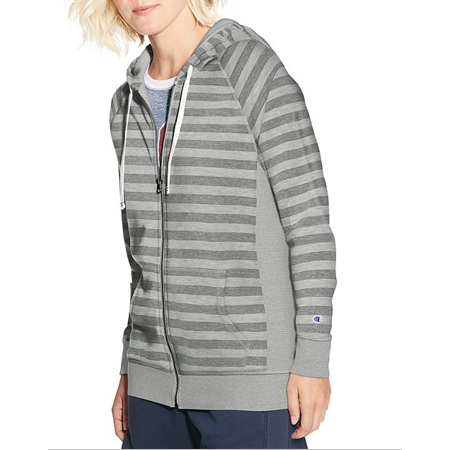 - Champion French Terry Zip Hoodie Oxford Grey XL