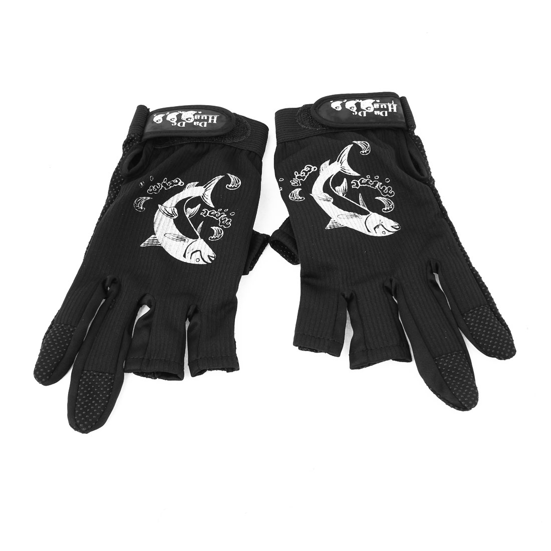 Unique Bargains Adjustable Anti-slip Full/Half Finger Gloves for Motorcycle Riding Cycling
