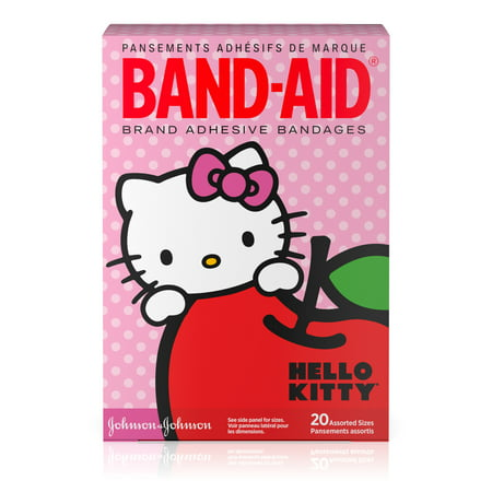 (2 pack) Band-Aid Adhesive Bandages, Hello Kitty, Assorted Sizes 20 ct