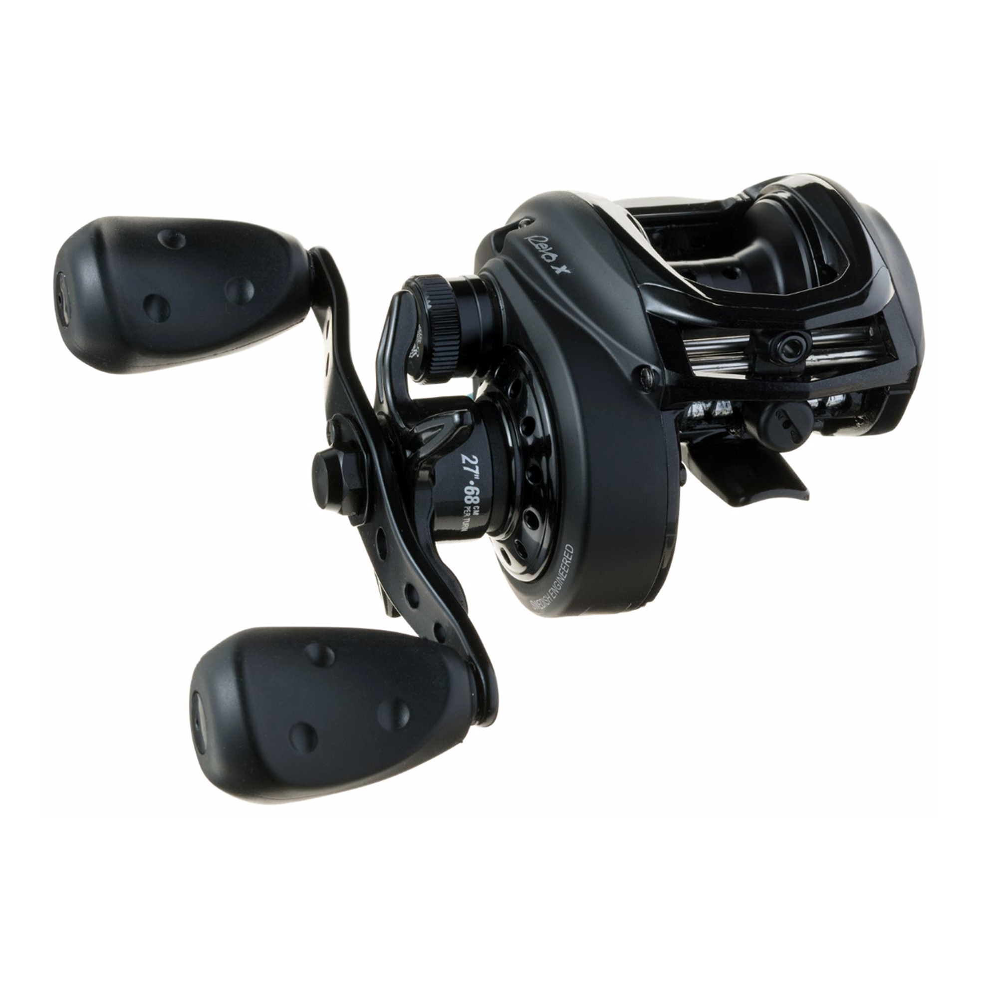 "Abu Garcia Revo 4 X HS Low Profile Baitcasting Reel 7.3:1 Gear Ratio, 30"" Retrieve Rate, 18 lb Max Drag, 8 Bearings, Right Hand"