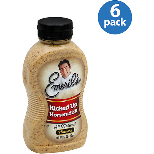 Emeril's Kicked Up Horseradish All Natural Mustard, 12 oz, (Pack of 6)