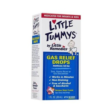 New Little Remedies for tummys Gas Relief Drops 1 oz Natural Berry Flavor