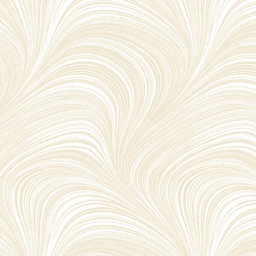 Wildflower Meadow~Wave Texture Cream Cotton Fabric by Benartex