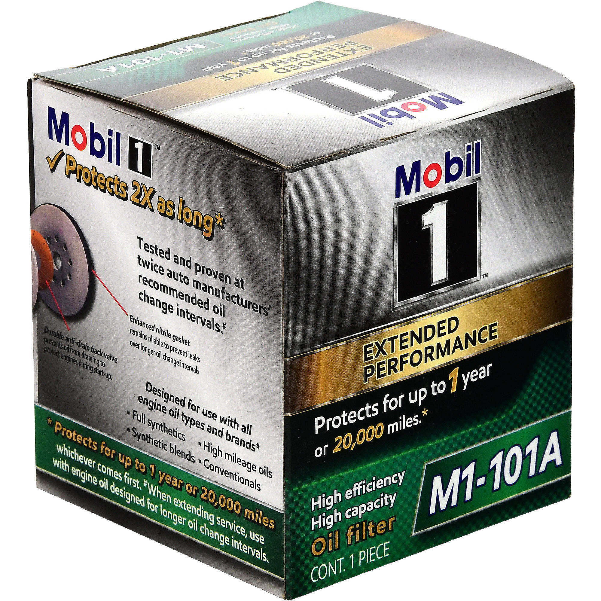 Mobil 1 Extended Performance Oil Filter, M1-101A, 1 count