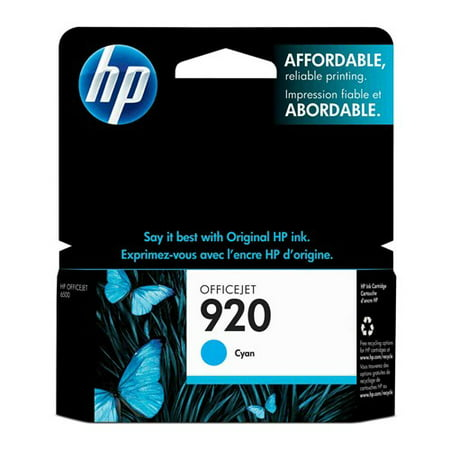 HP 920 - Dye-based cyan - original - Officejet - blister - ink cartridge HP 920 Ink Cartridge - Cyan - Inkjet - Standard Yield - 300 Page - 1 / Pack - OEM (920 Cyan Officejet Ink)