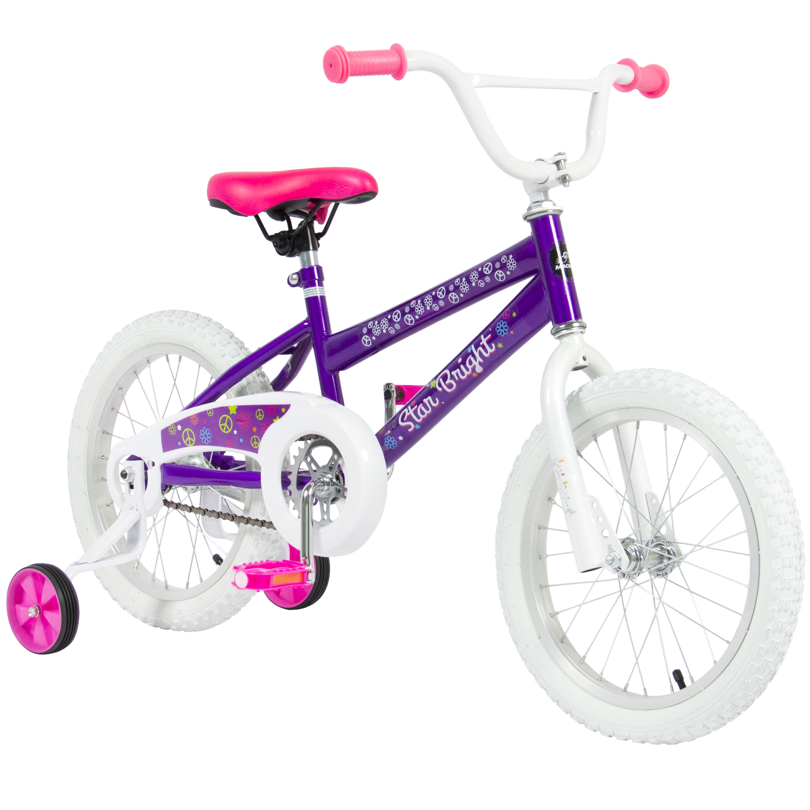 "Best Choice Products 16"" Girl's Purple Princess Bicycle W/ Removable Training Wheels Kid's BMX Style Bike"