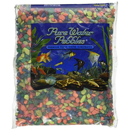 Pure Water Pebbles Aquarium Gravel 2-Pound Neon Rainbow (Pack of (Series Etx Non Potable Water Expansion Tank)