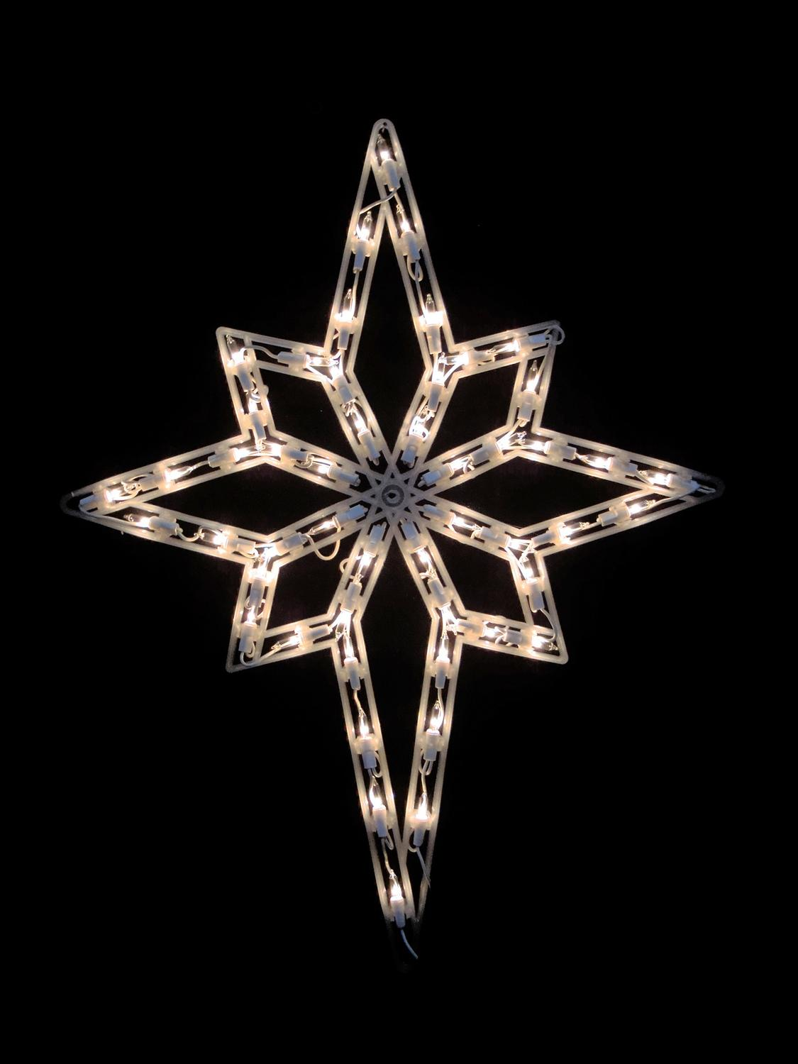 18 Quot Lighted Star Of Bethlehem Double Sided Christmas