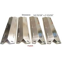 Set of four heat plates for Gas Grill Models from Char-broil, Kenmore, BBQ Pro and other manufacturers