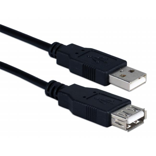 QVS AR2210-10 10 ft. USB 2.0 High Speed Arduino Extension Data Cable, Black
