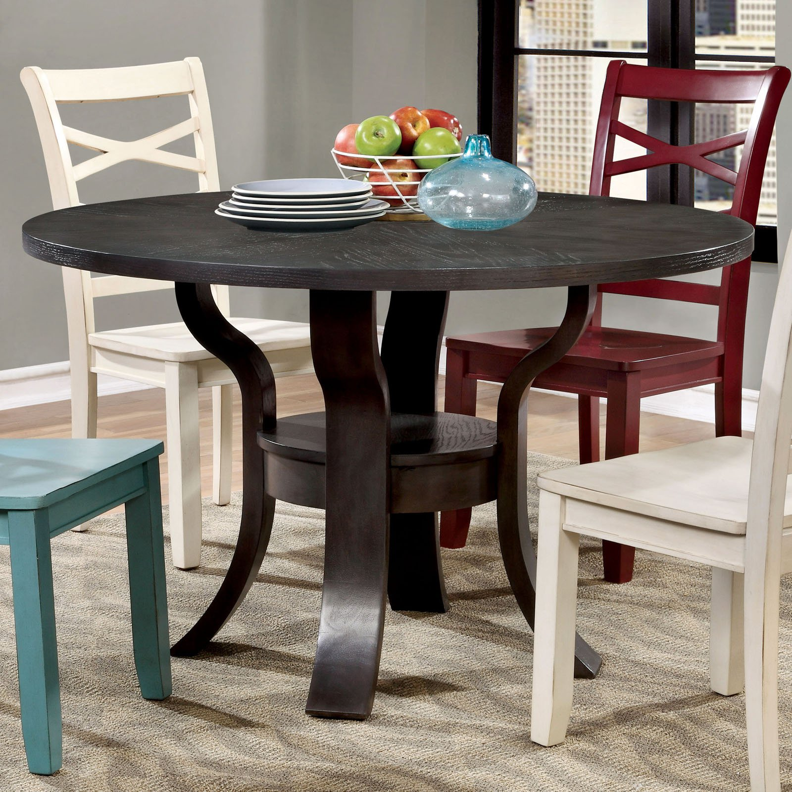 Furniture of America Bastion Sprawling Leg Dining Table