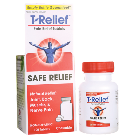 MediNatura T-Relief Pain Relief Tablets 100 Chwbls