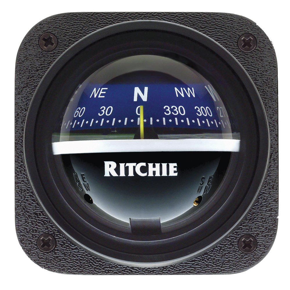 The Amazing Quality Ritchie V-537B Explorer Compass Bulkhead Mount Blue Dial by