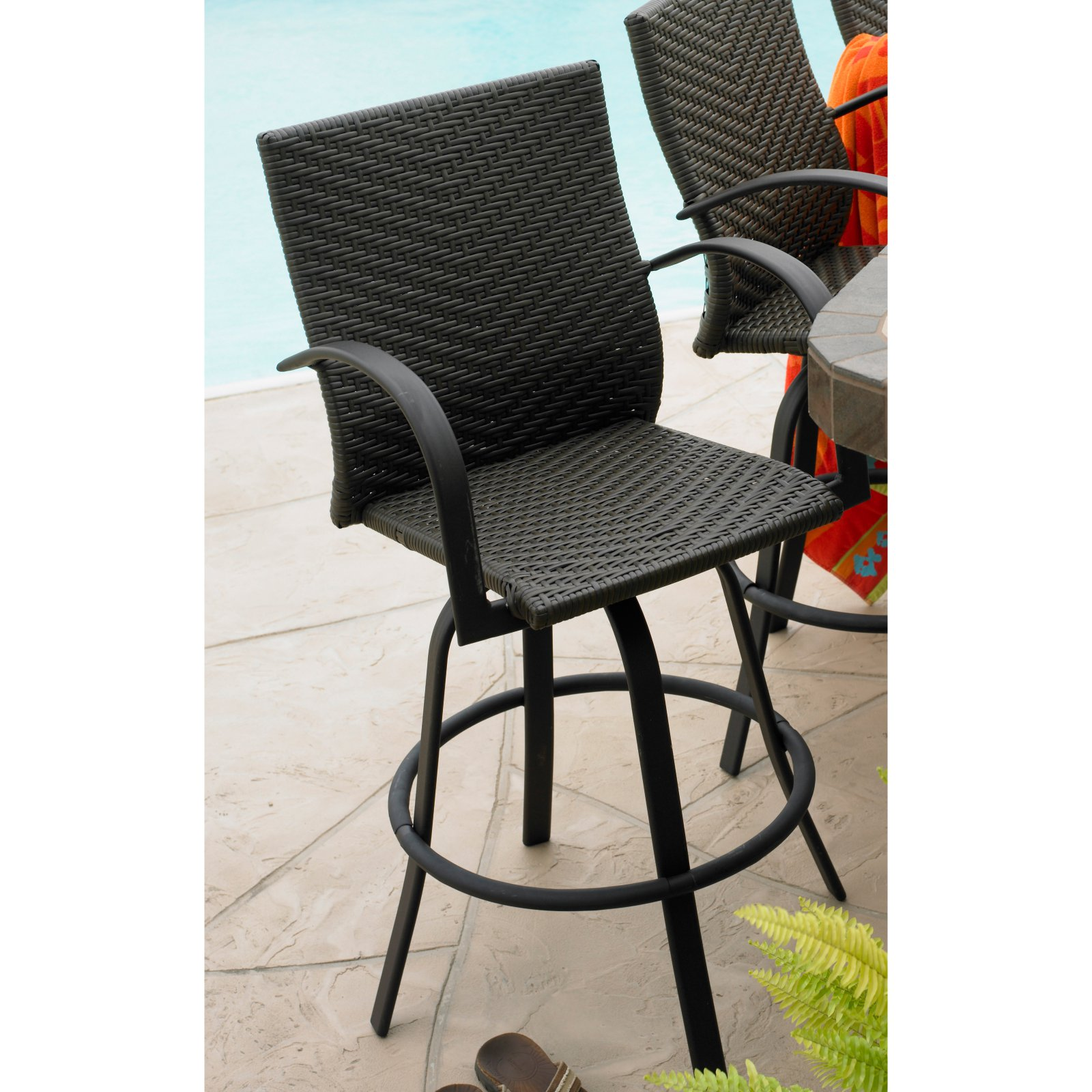 Outdoor GreatRoom Swivel Bar Stools - Set of 2