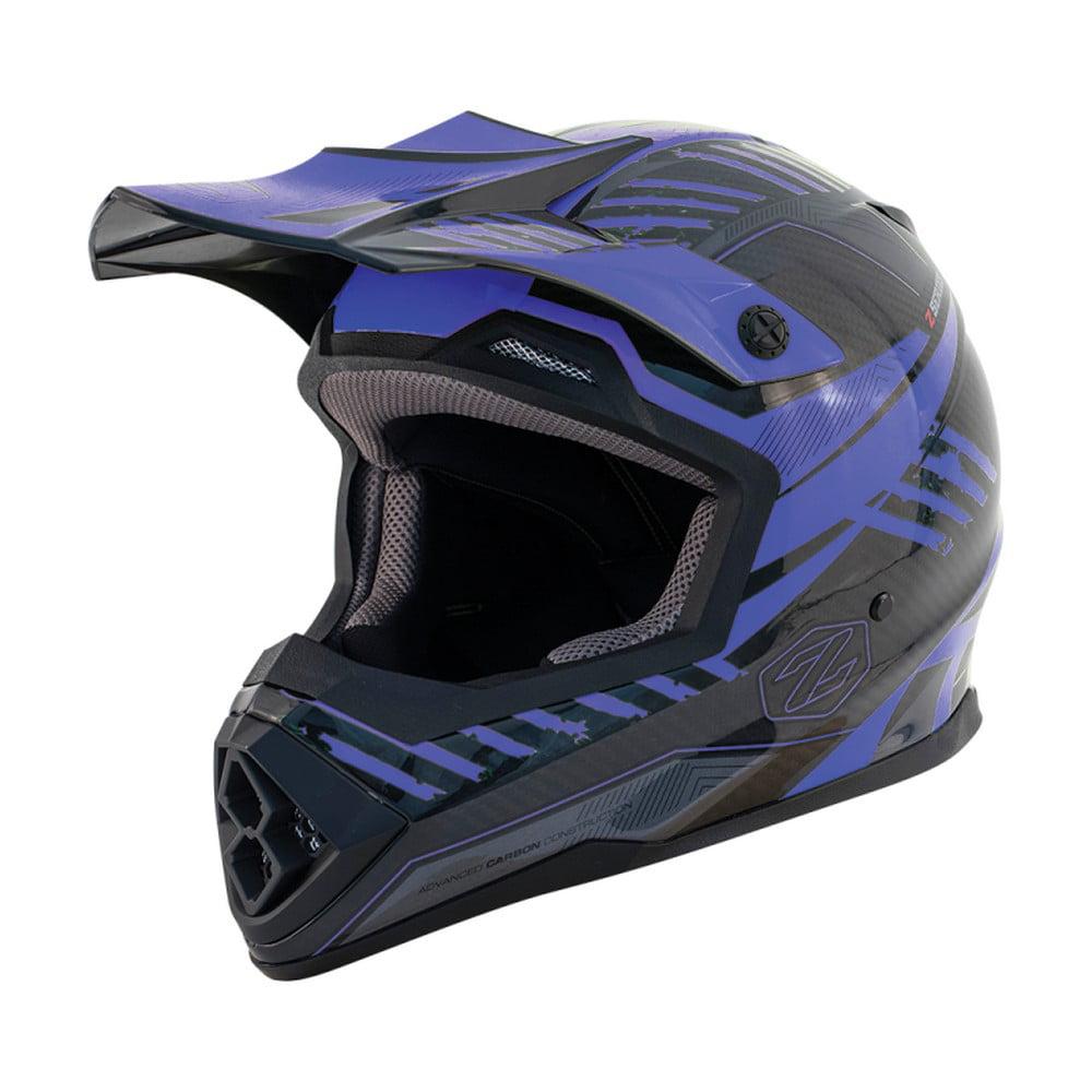 Zox Matrix Carbon Squadron MX Offroad Helmet Blue