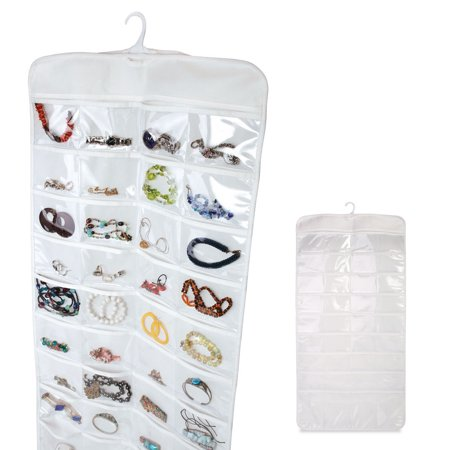 72 pocket jewelry hanging storage organizer holder earring