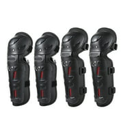 4PCs Cycling Knee Brace and Elbow Guards Bicycle MTB Bike Motorcycle Riding Knee Support Protective Pads Guards Outdoor Sports Cycling Knee Protector Gear