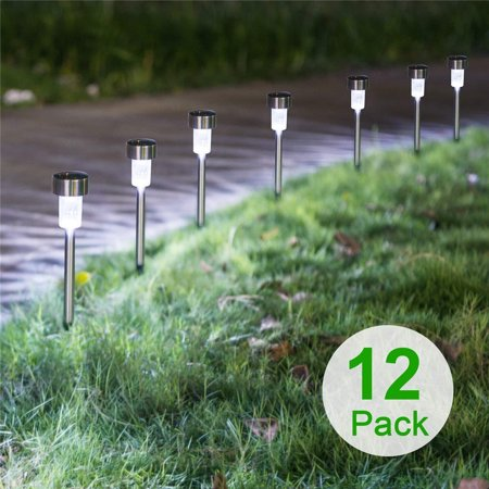 Zimtown Solar Powered Lights (Set of 12)- LED Outdoor Stake Spotlight Fixture for Gardens, Pathways ()