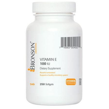 Bronson vitamine E 100 UI, 250 Gélules
