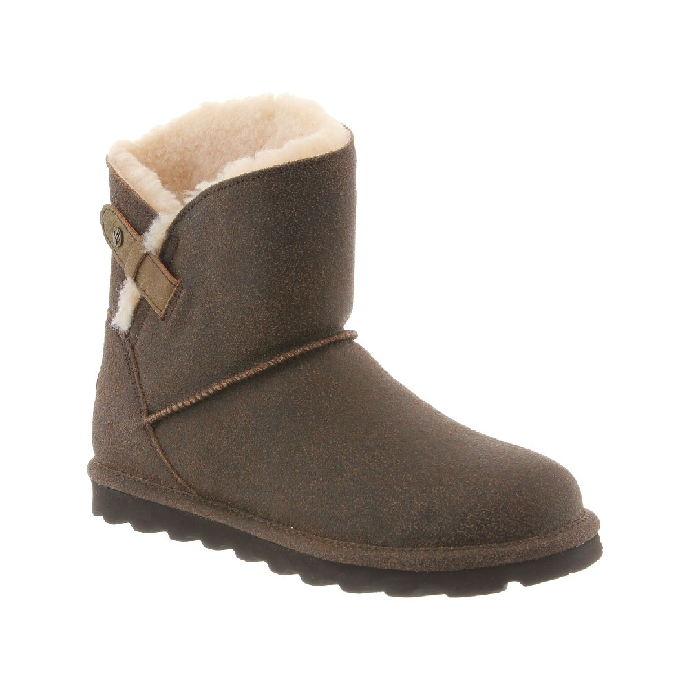 Bearpaw Women's Margaery 6'' Winter Boots Brown Suede Rubber 9 M