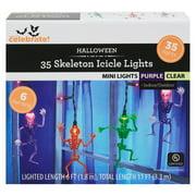 Way To Celebrate Halloween 35-Light Skeleton Icicle Lights, Purple