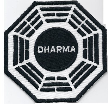 LOST Dharma Initiative Staffel DVD Pharmaindustrie Uniform 8cm logo Embroidered Patch Decorative Applique