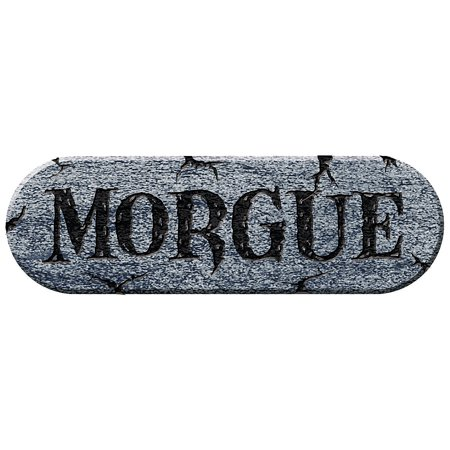 Fun Express - Morgue Foam Plaque for Halloween - Home Decor - Decorative Accessories - Home Accents - Halloween - 1 Piece (Halloween Morgue Scene)